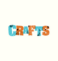 Crafts concept stamped word art vector