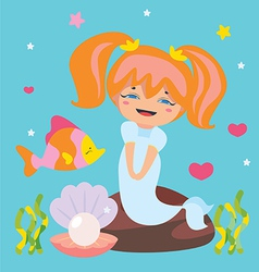 Cute Little Mermaid vector image vector image