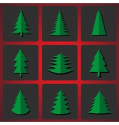 Cutting Christmas trees vector image vector image