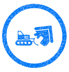 Demolition rounded grainy icon vector