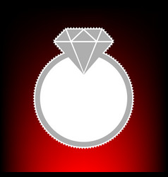 diamond sign postage stamp or old vector image