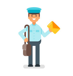 Flat style of postman vector