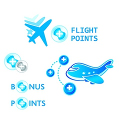 flight points vector image vector image