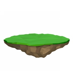 Floating island isolated vector image vector image