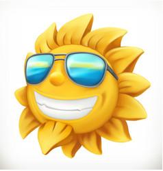 Fun summer sun 3d icon vector