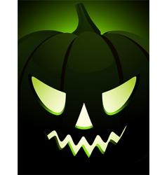 halloween pumpkin close up vector image vector image