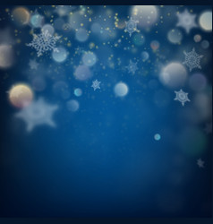 holiday lights and snowflakes eps 10 vector image