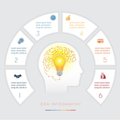 Infographics template six positions vector