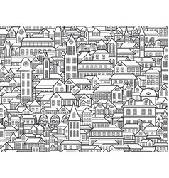 outline town vector image vector image