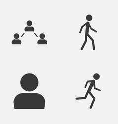 Person icons set collection of running user vector