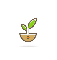 plant seed ecology logo vector image