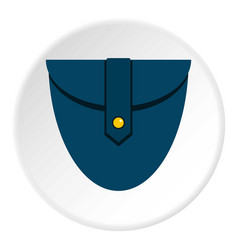 Small blue pocket icon circle vector