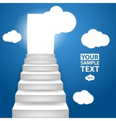 Staircase to up with clouscape conceptual vector image