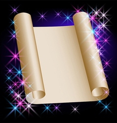 stars and parchment vector image