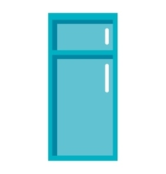 Tall blue fridge graphic vector