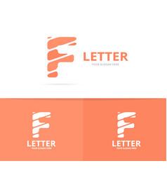 unique letter f logo design template vector image