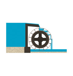 water mill eps10 vector image