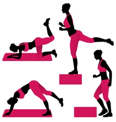 Young woman exercises vector
