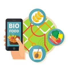 Online bio products search vector