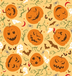 Scary halloween seamless pattern vector