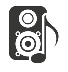 Speaker silhouette with audio icon vector