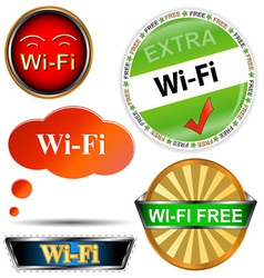 Wi fi logos set vector