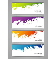 Color stickers set vector