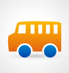 Car bus icon vector