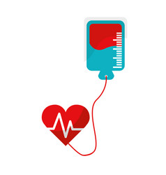 Red blood donation medical transfusion vector