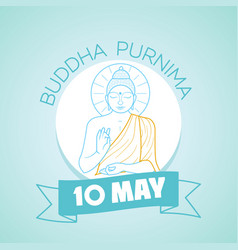 10 may buddha purnima vector image