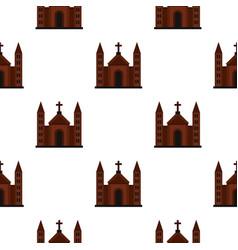 Catholic church pattern flat vector