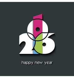 2016 new year greetings card vector image