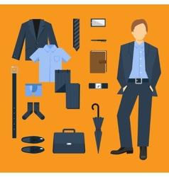 Business Man Clothes Set vector image