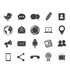 Media communication icons vector