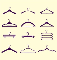 Fashion hanger collection vector