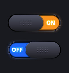 On off sliders vector
