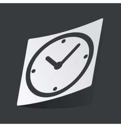 Monochrome clock sticker vector