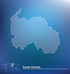 Map of south ossetia vector