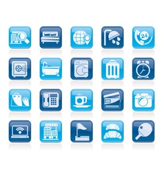 Hotel and motel services icons 1 vector image