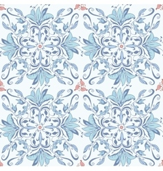 Abstract seamless floral kaleidoscopic pattern vector