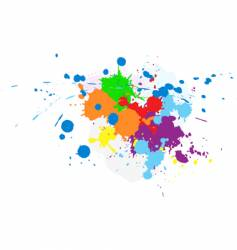 abstract splatter vector image