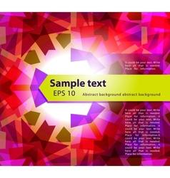 kaleidoscope abstract background vector image