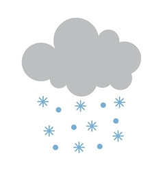 Snow cloud vector
