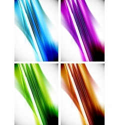 Abstract colorful line background set vector image