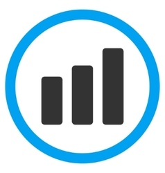 Bar chart increase flat rounded icon vector