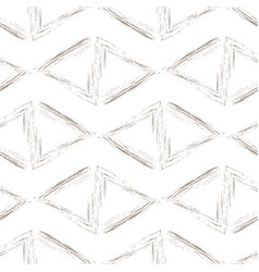 beige triangles on a white background vector image vector image