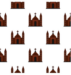 Catholic church pattern flat vector