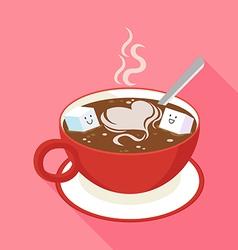 Coffee sugar vector