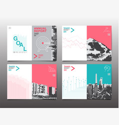 cover brochure design template annual report vector image vector image