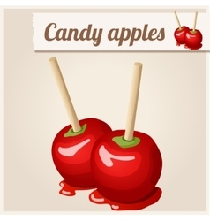 Detailed icon candy apples vector